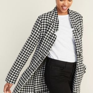 Old Navy NWT Houndstooth Trench Coach